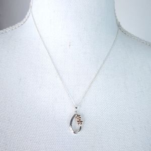 Sterling 925 Italy Sisters Pendant Necklace
